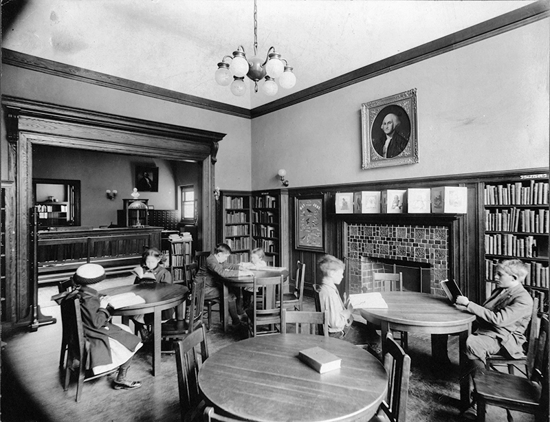 1910 Children's Room, Cary Memorial Library in Lexington, Massachusetts