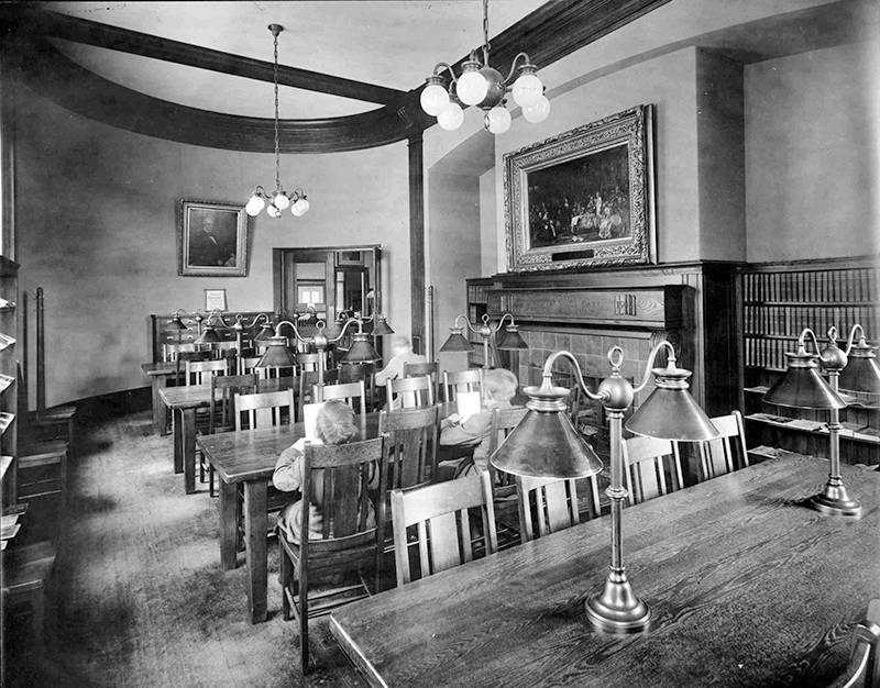 1910 Oval Room, Cary Memorial Library in Lexington, Massachusetts