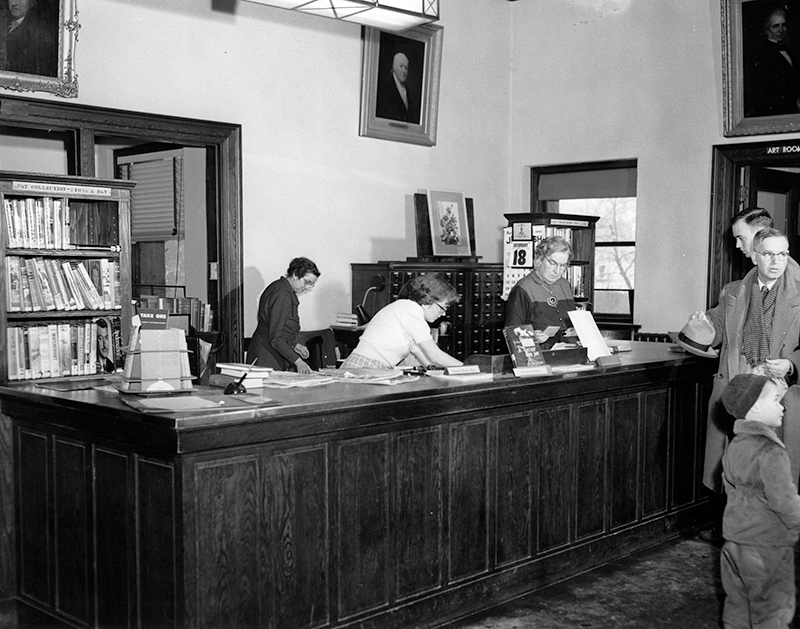 1950 Main Desk at the Cary Memorial Library in Lexington, Massachusetts