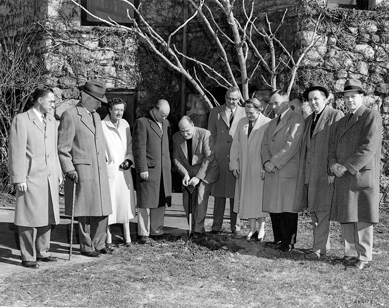 1957 Ground breaking at Cary Memorial Library in Lexington, Massachusetts