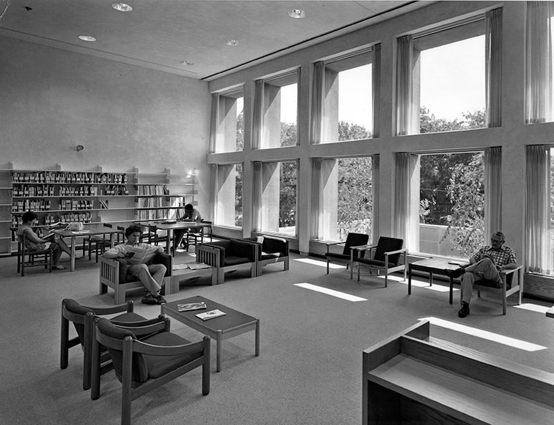 1976 Main Reference Room in Cary Memorial Library in Lexington, Massachusetts
