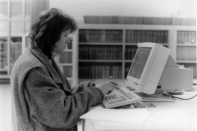 Lady using computer