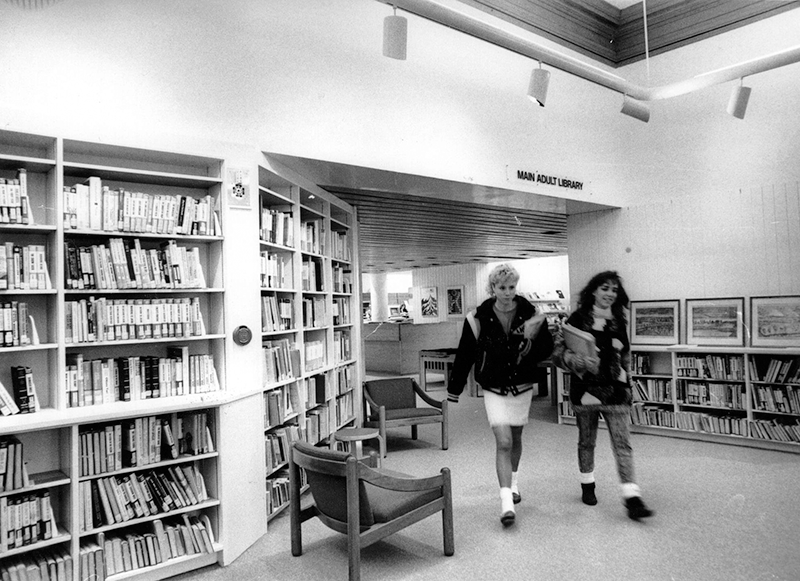 1989 Lobby at Cary Memorial Library in Lexington, Massachusetts