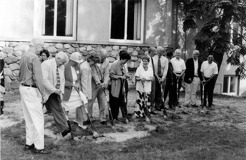 2001 Groundbreaking at Cary Memorial Library in Lexington, Massachusetts