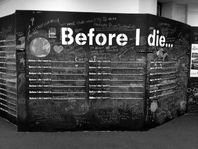 2012 Before I Die Wall at Cary Memorial Library in Lexington, Massachusetts