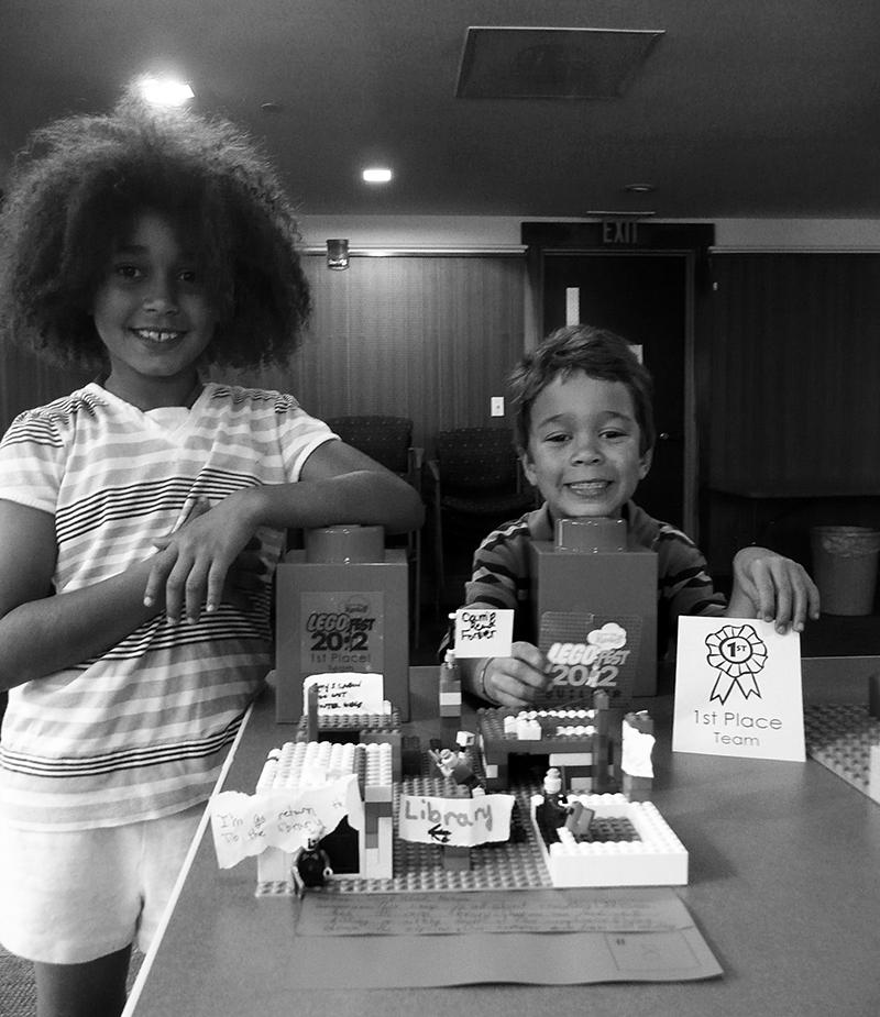 Kids with Lego