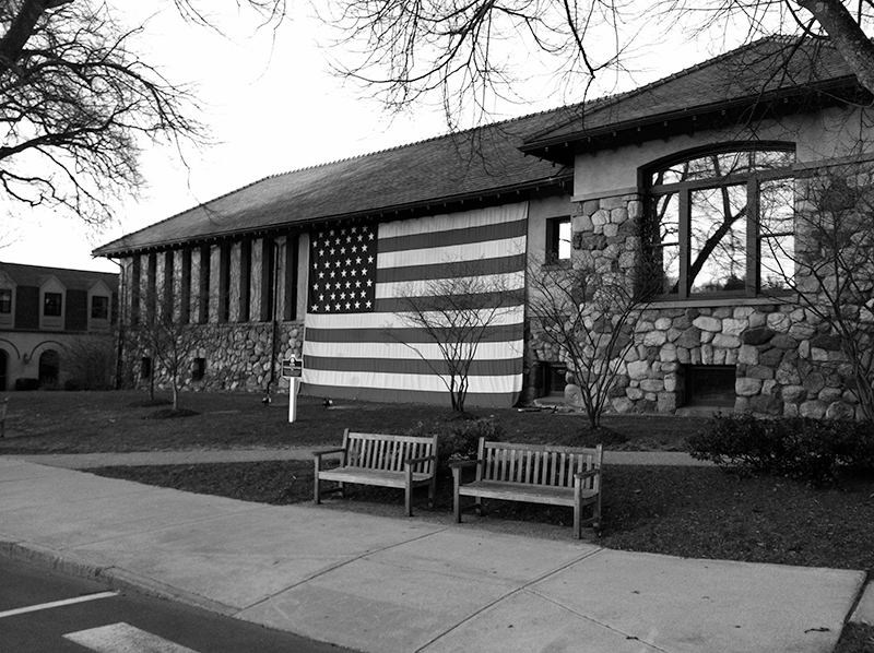 Flag on Library