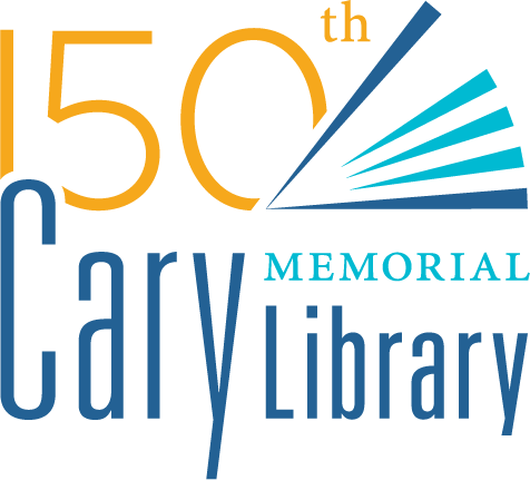 150th Anniversary of Cary Memorial Library in Lexington, Massachusetts logo