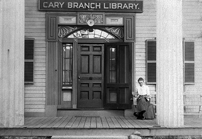 Late 1800s Front facade of Stone Building, Carrie Fiske, Cary Branch Library in Lexington Massachusetts