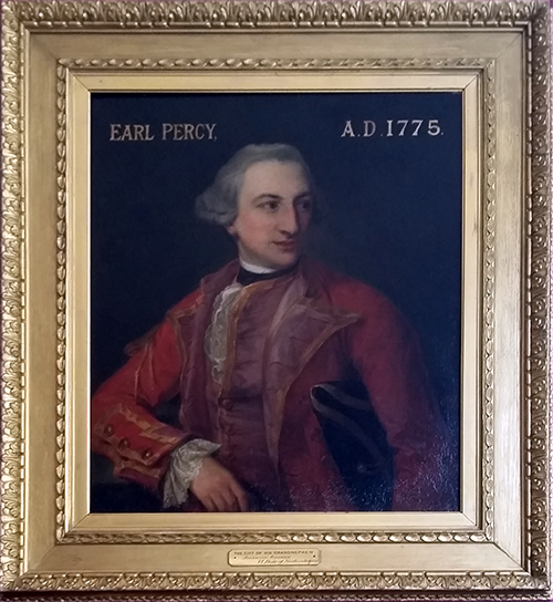 Portrait of Earl (Hugh) Percy, Lord Warkworth, later 2nd Duke of Northumberland