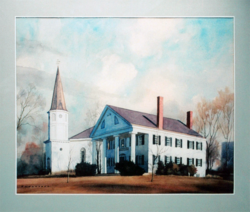 Stone Building, East Branch by Philip Brown Parsons; oil on canvas