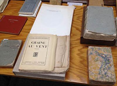 Photo of rare books