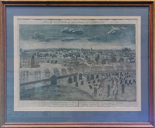 A View of the Town of Concord (Plate II)