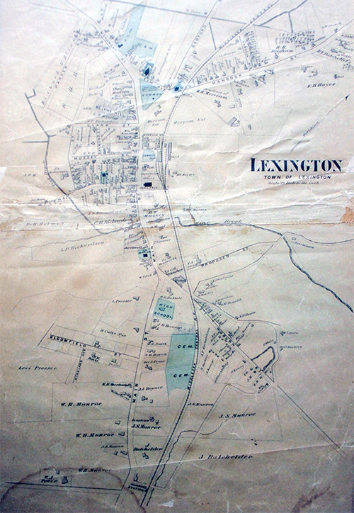 Map of Lexington, 1875