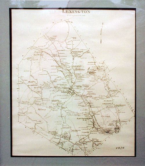 Map of Lexington, 1876