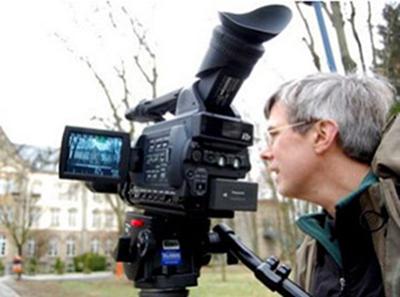 Photo of Rick Beyer filming