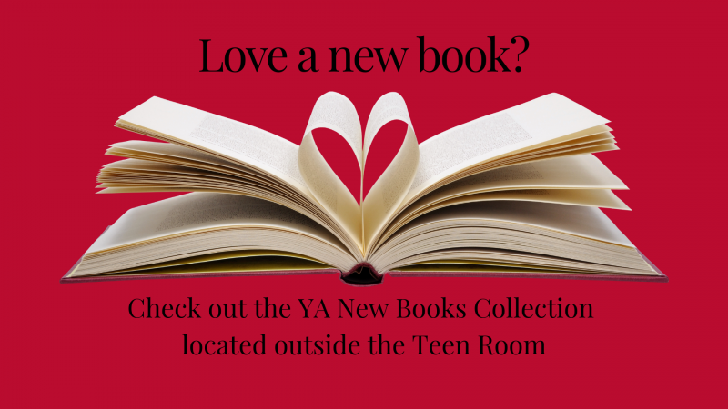 Love a new book? Check out the YA New Books Collection located outside the Teen Room