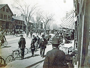 Massachusetts Avenue in Lexington, from the Edwin B. Worthen Collection