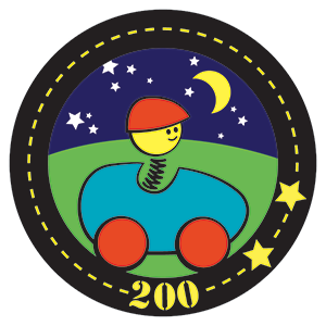 Beanstack Badge 200 for On the Road to Reading at Cary Memorial Library