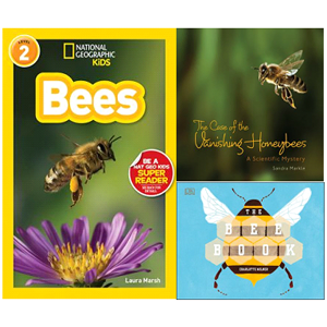 Book covers with bees