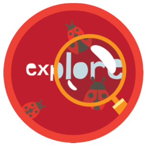 Explore and magnifying glass graphic