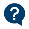 Question mark in word bubble icon