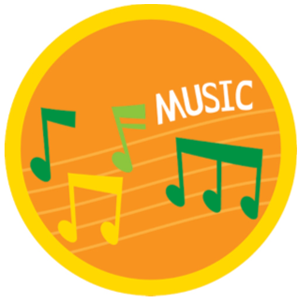 Music notes graphic