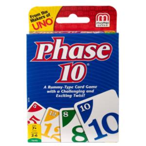 Phase 10 card game box