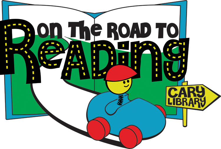 On the Road to Reading logo for the Cary Memorial Library in Lexington, MA