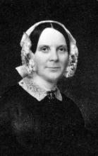 Portrait of Maria Cary in Cary Memorial Library in Lexington, Massachusetts