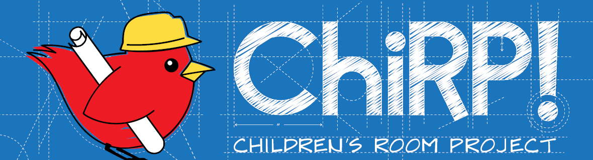 ChiRP! Children's Room Project with bird graphic